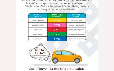 No Tienes El Engomado De La Verificación Vehicular Cuidado